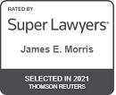 James Morris 2021 Super Lawyers badge